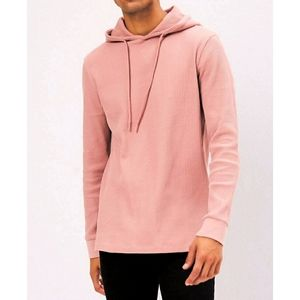 Forever 21 Men's Waffle-Knit Pullover Hoodie
